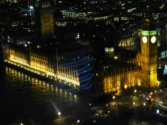 Premier Inn London Greenwich Hotel: Houses of Parliament from London eye