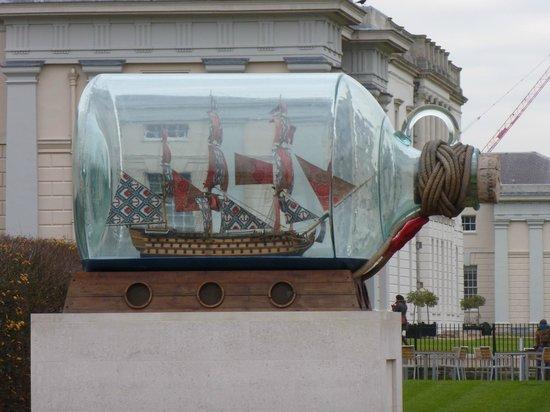 Premier Inn London Greenwich Hotel: Largest Ship in a Bottle...in the World