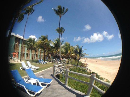 Pousada Ecoporto: deck e o hotel