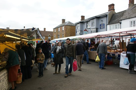 Deddington, UK: A  busy market day