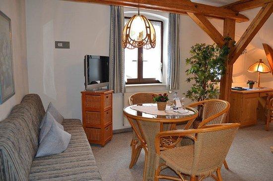 Hotel Gasthof Drei Mohren: Espacio salita. Muy acogedor y confortable. Para comer y ver la tele.