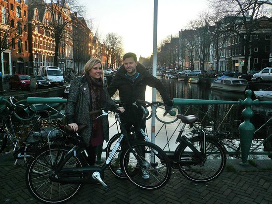 Sir Albert Hotel: Our Hired Bikes from Sir Albert helped us glide round Amsterdam