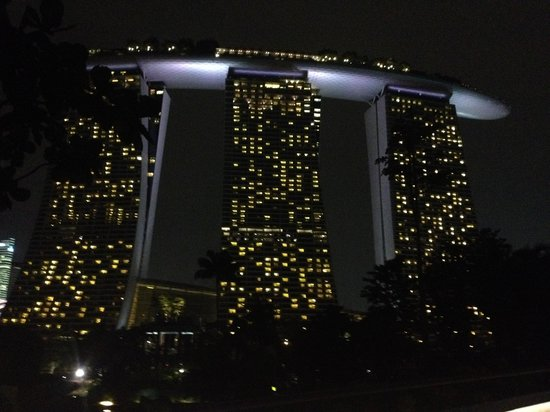 Marina Bay Sands : vista de noche