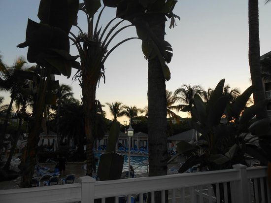 DoubleTree by Hilton Hotel Grand Key Resort - Key West : Pool area at sunset.