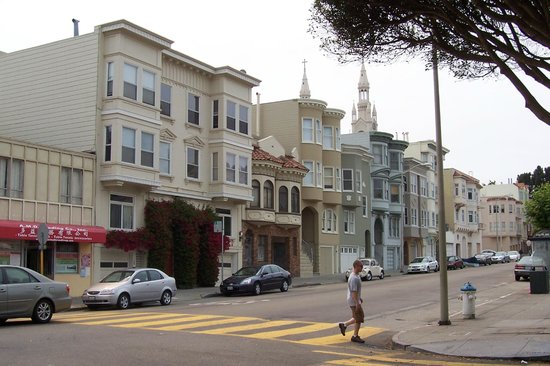 Victorian houses at Alamo square