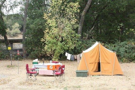 Skyline Wilderness Park: Campsite