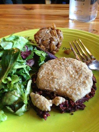 Cafe Gratitude: Thanksgiving - their veggie burger with gravy