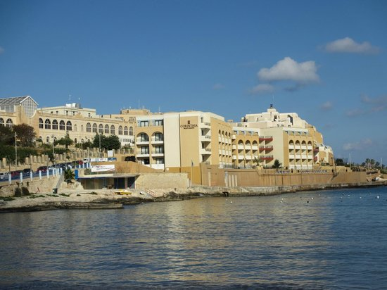Corinthia Hotel St. George's Bay: Across the bay