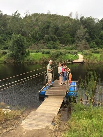 Botlierskop Private Game Reserve: pontoon to room