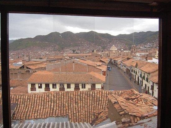 Orquidea Real Hostal: Vista desde el balcón de la habitación.