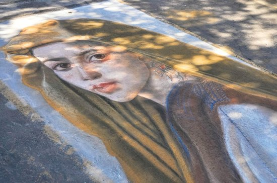 Kimball Art Center : Chalk art at the Annual Park City Kimball Arts Festival first weekend in August
