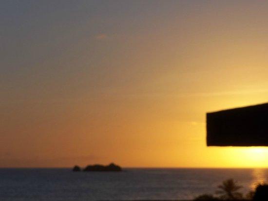 Marina Bay Hotel & Casino : Amaneces desde el balcon del cuarto