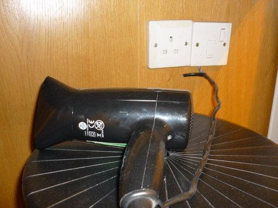 West Cromwell Hotel : Dusty hairdryer