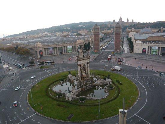 Catalonia Barcelona Plaza: Vistas desde el Salon