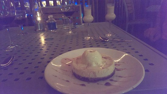 Grande Cru Restaurant and Wine Bar : Cheesecake volcano