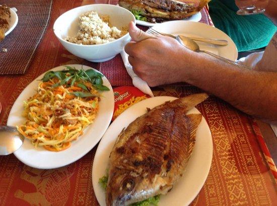 """Sun Sothy Guesthouse: Einfach köstlich """"frischer Fisch"""""""