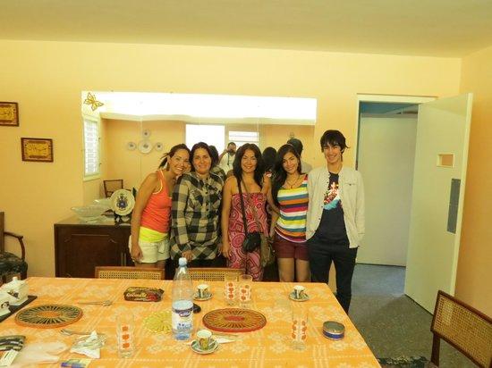 Hostal d' Soto: En el Hostal d´ Soto, día de despedida, comida en familia