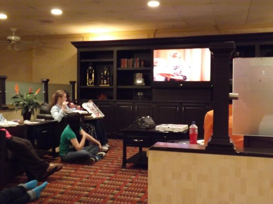 Quality Inn of Troy : The hotel set up to watch Sound of Music in the lobby