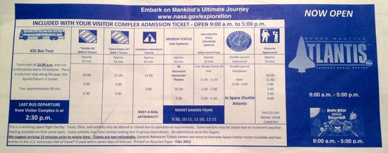 NASA Kennedy Space Center Visitor Complex : Kennedy Space Center Fall 2013 Schedule