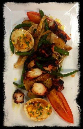 Saltaire Restaurant : Char grilled Spanish octopus salad