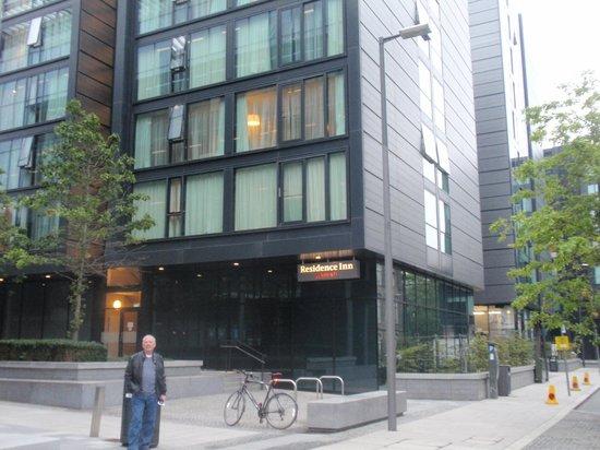 Residence Inn Edinburgh: My husband outside of the hotel