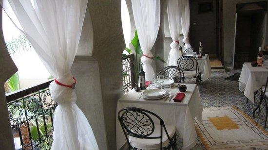 Riad Hadda : Salle à manger