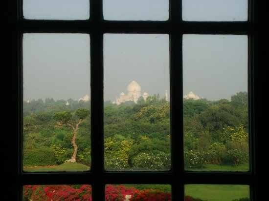 The Oberoi Amarvilas: The Taj from our room.