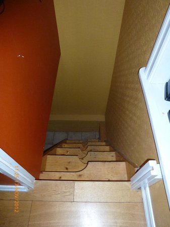 Our House : stairs to sauna