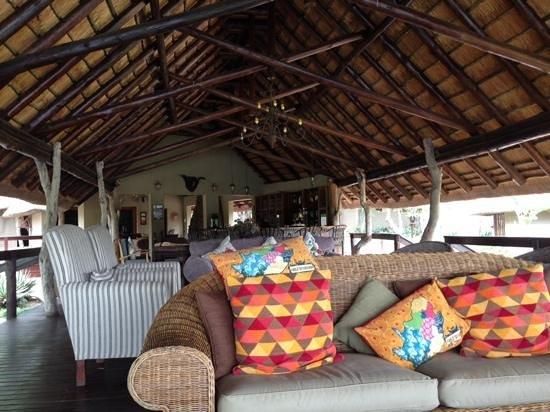 Arathusa Safari Lodge: The lounge and pool area