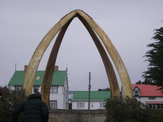Whalebone arch at Stanley, East Falkland