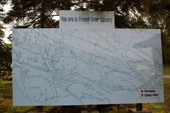 The new map near the restaurant