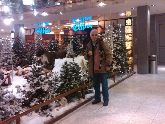 Olympia Einkaufszentrum : It is Pedro Salinas next to a Wild life animation of winter