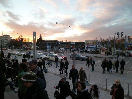 The exit of the main door of Olympia Einkaufszentrum