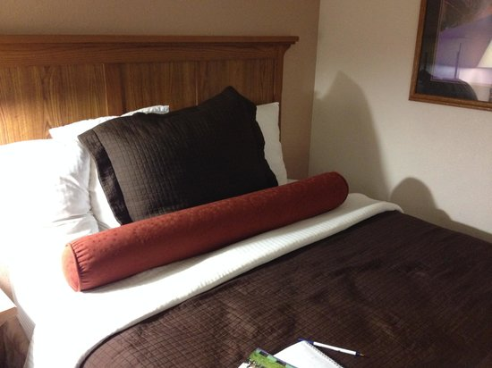 Best Western Plus Saddleback Inn & Conference Center: The beds look beautiful and are comfy