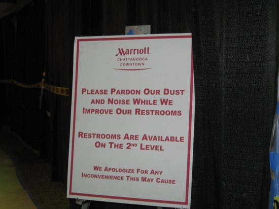 Chattanooga Marriott Downtown : Very brief renovations