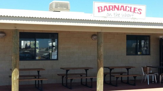 Barnacles Food Bar: Barnacles on the warf