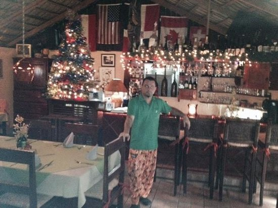 Los Tres Cocos: The owner and chef.
