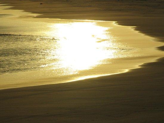 Hyams Beach Seaside Cottages: sun sinking into sand