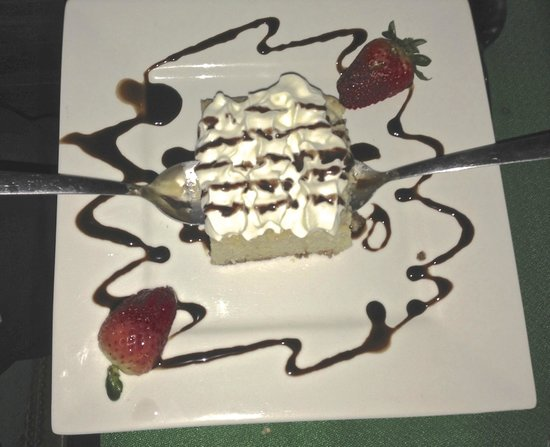 Benedictus Steak House: The best Tres Leches cake ever.