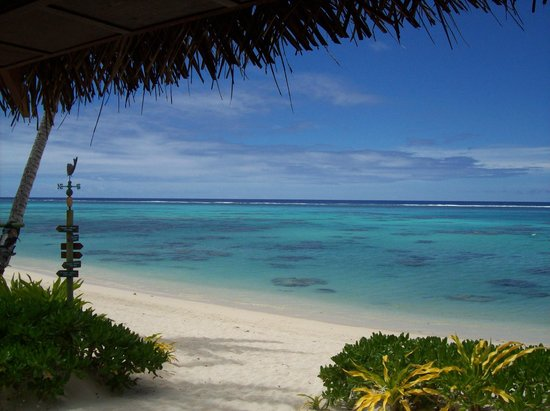 Rarotonga Beach Bungalows: From the porch
