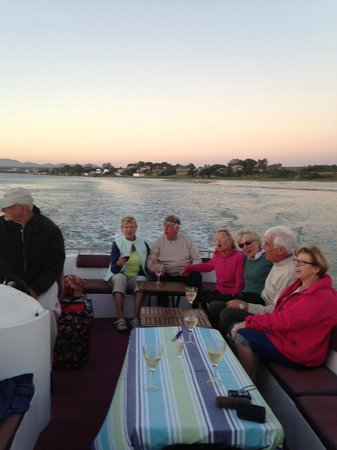 Brisan On The Canals: German tourists enjoying sunset dinner while cruising the Kromme River on Swan of Brisan