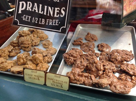 City Market : Pralines at Savannah Candy Kitchen are a must to try! They make them in house and give samples