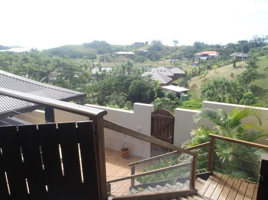 Musket Cove Island Resort: Villa Marau view towards lagoon