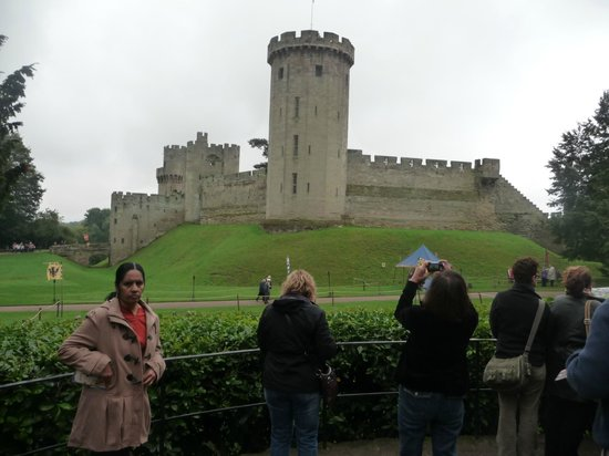 Warwick Castle: view of the castle