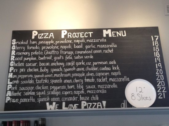 Vic Street Pizzeria: Menu -- but they also have daily specials not listed in this board