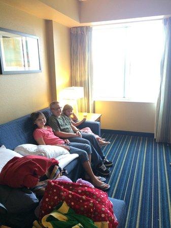 Residence Inn Anaheim Resort Area/Garden Grove : We all enjoyed watching family movies here