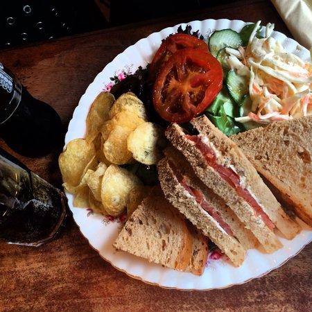 Pettigrew Tea Rooms: Salmon sandwich