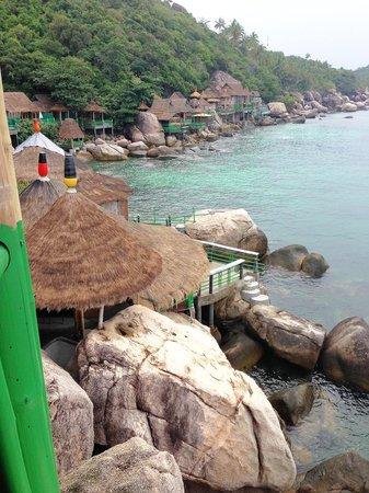 Koh Tao Bamboo Huts: วิวจากระเบียงห้องพัก