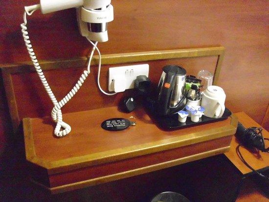 Wardonia Hotel: Föhn, Kaffee, Tee und Wasserkocher