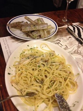 Osteria Al Diavolo E L'acquasanta : spaghetti con canelicchi